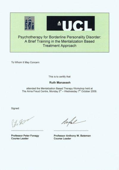 UCL-Mentalisation-Certificate